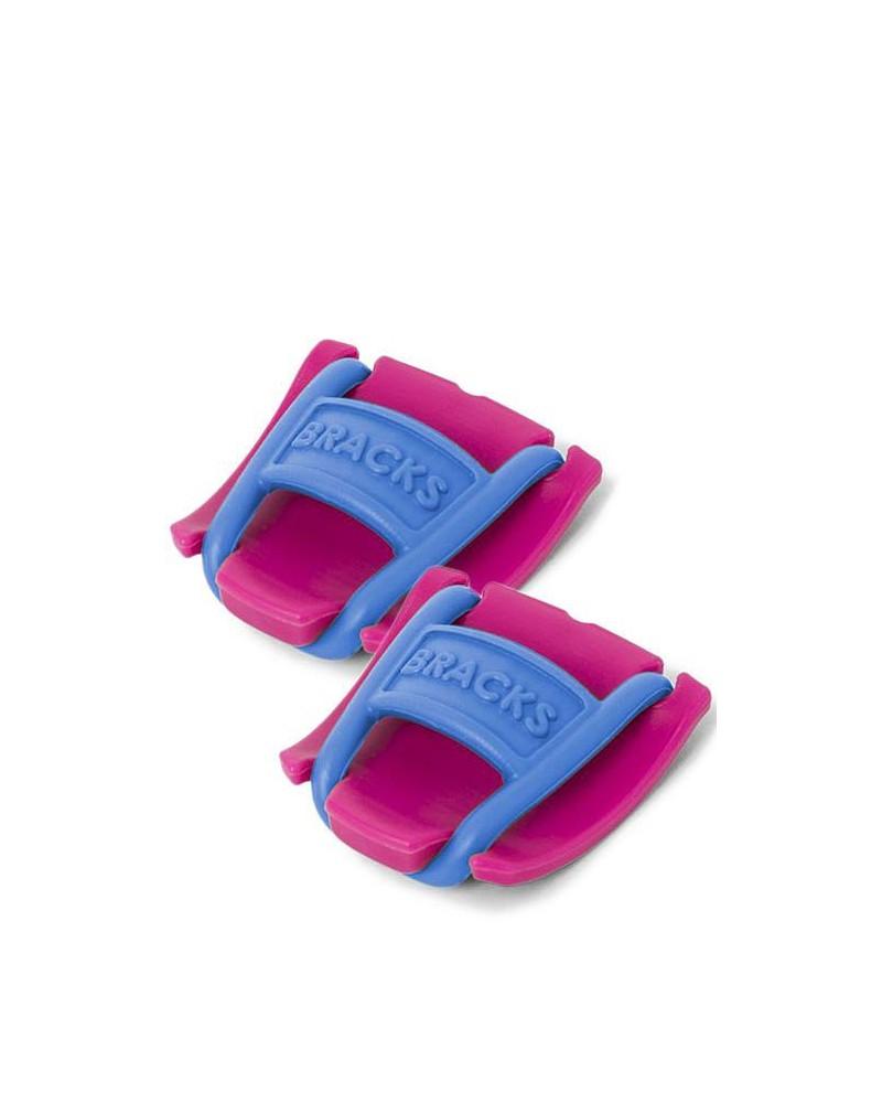 Klipsy do sznurowadeł Bracks różowo-niebieskie