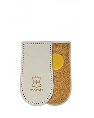 Klin korkowy pod pietę, 25 mm, skórzany, Viva, Mazbit