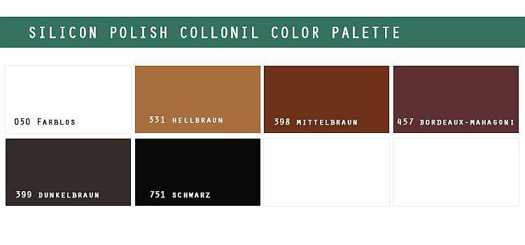 Paleta kolorów Silicon Polish Collonil